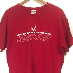 Jerzees Cortland Red Dragons T Shirt Size Large
